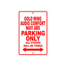 HONDA GOLD WING NAVI ABS Parking Only Motorcycle Bike Aluminum Sign