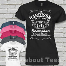 The Garrison T Shirt Peaky birmingham Pub Ladies fitted Blinders t.v shelby