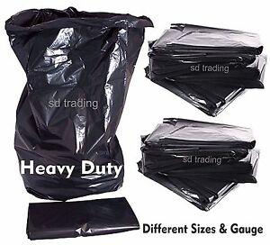 Black Bin Bags Refuse Sacks Heavy Duty 140 160 180 200 & 280 Gauge Wholesale