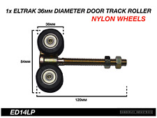 1x Eltrak Shed Door Track Roller 4 Wheel Nylon Carriage 36mm Diameter Wheels