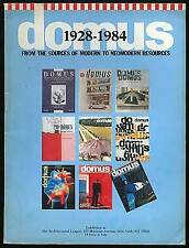Domus 1928-1984 From the Sources of Modern to Neomodern Resources