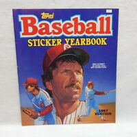 1987 TOPPS BASEBALL STICKER YEARBOOK MLB WITH NO STICKERS INSIDE