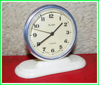 Vintage Mechanical Alarm Clock Slava 11 Jewels Russian USSR Soviet 1980s #712204