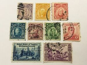 old stamps  PHILIPPINES     x  9