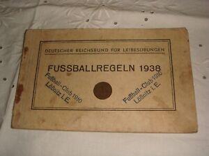 URALT  FUßBALLREGELHEFT FUßBALL FUßBALLKLUB LÖSNITZ