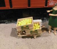 Zitronenkisten für Gartenbahn Spur G, Ladegut, Obst, G-Scale, passt zur LGB