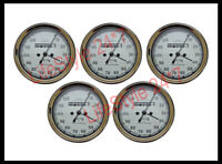5 Pcs Smiths Replica Speedo Meter 0-120 MPH White For BSA, Vincent, Ariel