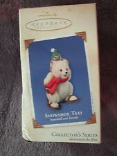 Hallmark Keepsake Ornament, Collector's Series, Snowshoe Taxi