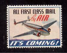 1941 Lockheed Lodestar, All First Class Mail by Air, It's Coming