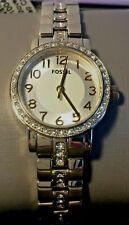 Fossil Women's Watch Gold Tone Sparkling Glitz Mini Shae 3 Hand Stainless Steel