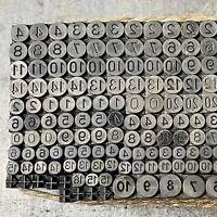 Negativ Zahlen Bleisatz - Handsatz Bleilettern Letterpress Buchdruck Druckerei