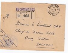1951 French Sapeurs Mineurs Bimbereke Dahomey to Parakou Registered Army Cover
