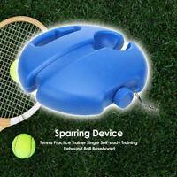 Single Tennis Trainer Training Practice Rebound Ball Back Base Tool Blue PE