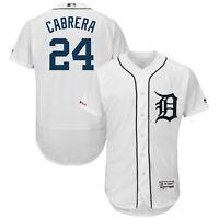 Miguel Cabrera Detroit Tigers White Classic Flex Base Baseball Jersey