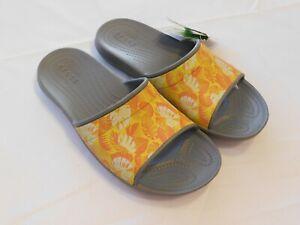 Crocs Classic Tropics Slide Sandal Slip On M 11 Mens Smoke Standard Fit NWT NEW
