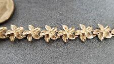 """Sterling Silver  7 """"  Hawaiian Pikaka  flower bracelet  lot #SSB48"""