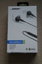 Bose SoundSport In-Ear Headphones for iPhone - Charcoal. NEW. SEALED.