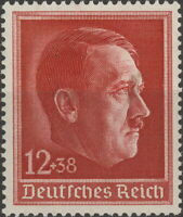Stamp Germany Mi 664 Sc B118 1938 WW2 Fascism War Hitler Birthday War MNH