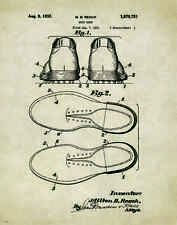 Golfing US Patent Poster Art Print Antique Golf Ball Clubs Shoes Tees Bag PAT122