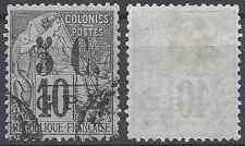 COLONIE GUADELOUPE N°10 - OBLITÉRATION CACHET A DATE - COTE 13€