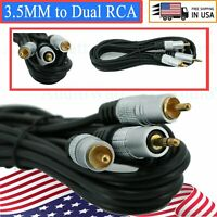 1x Premium 6 Feet 3.5MM to Dual RCA Audio Video Adapter Jack Composite A/V Cable