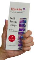 Nail Wraps - Purple Galaxy - Nail Polish Strips Stickers - 40 Premium Tips