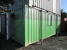 21ft x 9ft SITE OFFICE CHANGING ROOM WITH TOILETS ANTIVANDAL CABIN 1000 + VAT