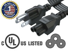 Pwr+ UL Listed Long 6 Ft Cable 3 Prong TV Power Cord for LG LED LCD Smart HDTV