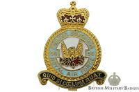 Queens Crown: Royal Air Force 56 Squadron Unit RAF Lapel Badge