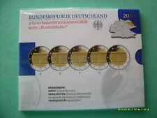 """2 Euro-Gedenkmünzenset von 2020 """"  Brandenburg """" in polierte Platte."""