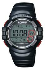 Digital Youth Watch Black with Red Highlights Lorus R2317KX-9