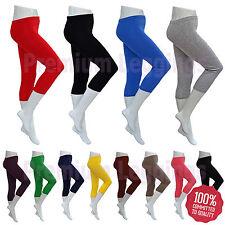 Capri Cotton Blend Leggings for Women