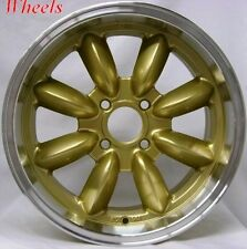 15X7 ROTA RB WHEEL 4X100 +25 ROYAL GOLD RIM FITS BMW 2002 66-76 E21 70-74