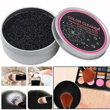 Limpiador de Pinceles de Maquillaje Caja de Sombra de Sombra de Ojos Esponja limpio y seco Interruptor Removedor de Maquillaje