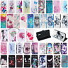 For Samsung Galaxy A6 A8 Plus 2018 Magnetic Leather Flip Wallet Card Case Cover