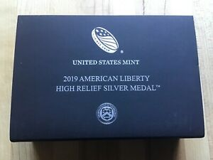 2019 American Liberty High Relief Silver Medal 2.5 oz 99.9% Silver