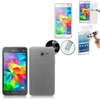 Coque Gel UltraSlim Film Verre Trempe Samsung Galaxy Grand Prime 4G SM-G531F