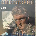 """CHRISTOPHE Vinyl 45 tours EP 7"""" ALINE - LA FILLE YEUX BLEUS - DISC AZ 985 RARE"""