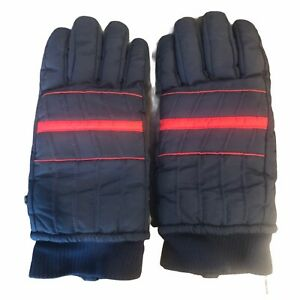 Thinsulate Thermal Insulated Warm Winter Ski Gloves Blue Red Size S-M
