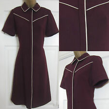 NEW EX Dorothy Perkins Ladies Shirt Tea Dress Smart Office Burgundy Red 6-22
