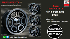 4 Cerchi Momo Vega 6j 14 pollici 4x98 Matra Bagheera Murena wheels felgen jantes
