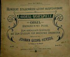 ORGEL  *  100 CHORALVORSPIELE  * Beyer und Mann  * Wilhelm Stahl * 19 Jh.