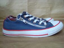 CONVERSE UK 4 BLUE WITH DOUBLE ZIP FRONT CANVAS TRAINERS