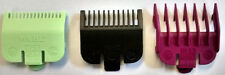 WAHL COLOUR CLIPPER GUARD ATTACHMENT COMBS X 3 - SIZES: 0.5 / 1 / 1.5