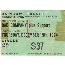BAD COMPANY Concert Ticket Stub LONDON UK 12/19/74 RAINBOW FIRST ALBUM TOUR Rare