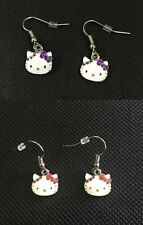 1pair(2pcs) Sanrio Hello Kitty Red or Purple Earrings Ear Stud Girls Women's New