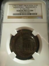 1795 Middlesex Skidmore's Halfpenny Token D&H 522a NGC MS62 BN Brown