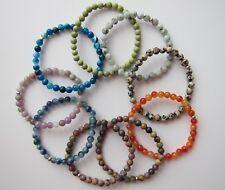 Men's Turquoise, Jasper & Other Gemstone Beaded Bracelets 6 mm - Unisex