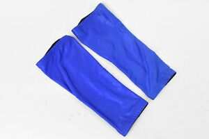 Verge Lycra Cycling Knee Warmers Blue Small NOS