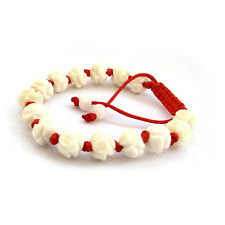 Bone Lotus Flower Tibet Buddhist Prayer Beads Mala Bracelet--10mm*8mm